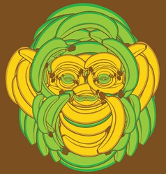 Banana Monkey vector image vector image