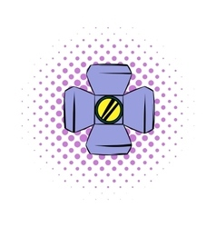 Floodlight comics icon vector image