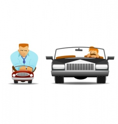 funny drivers vector image vector image