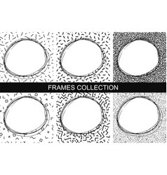 hand drawn framesmemphis style - fashion 80-90s vector image vector image