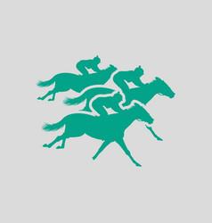 horse ride icon vector image