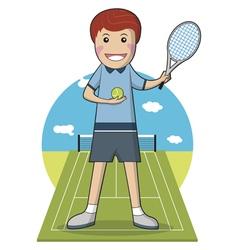 Sport Player Cartoon character Tennis Player vector image vector image