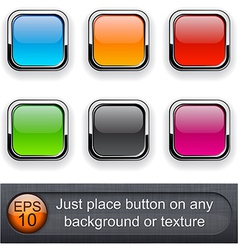 Square glossy buttons vector image