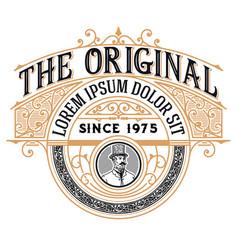 vintage logo with victorian details vector image