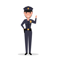 cartoon woman police officer in uniform vector image