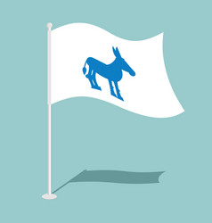democrat donkey flag national flag of vector image vector image