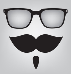 Funny mask sunglasses and mustache vector image