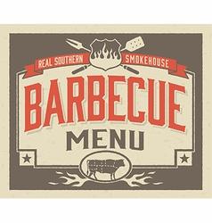 Genuine Southern Barbecue Menu Design vector image vector image