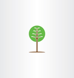 Geometric green circle tree icon logo vector
