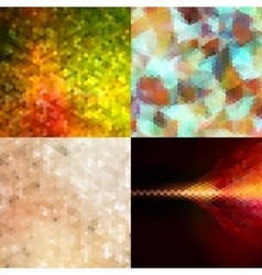 Hexagon Background Set EPS 10 vector image vector image