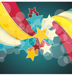 Ribbons and stars isolated on white background vector image