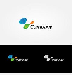 abstract dynamic company logo sign symbol icon vector image