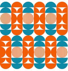Abstract geometric pattern mid century vector