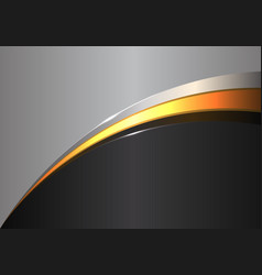 Abstract gold line curve on black gray design vector
