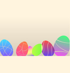 background colored easter eggs vector image