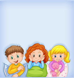 Background template design with happy children vector
