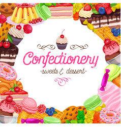 Banner page design confectionery vector
