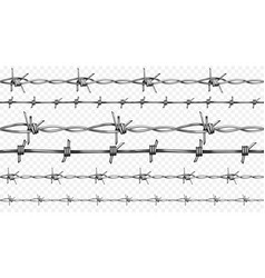 Barbed wire realistic seamless vector