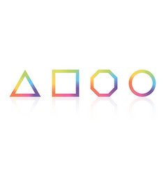 basic geometric shape with color rainbow spectrum vector image