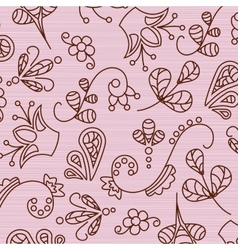 Beautiful patterns on a pink background vector