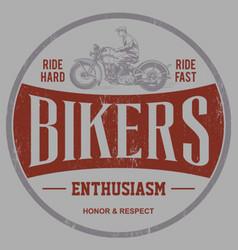 Bikers enthusiasm vector