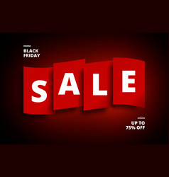 black friday sale poster vector image