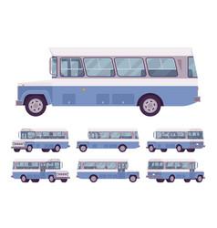 blue retro bus vector image
