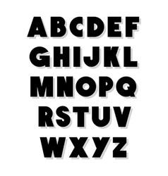 Bold alphabet font type alphabet vector
