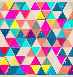 Bright color triangle seamless pattern vector