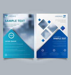 brochure layout design template annual report vector image