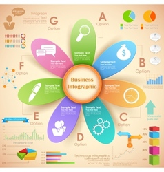 Business Infographics Chart vector image vector image