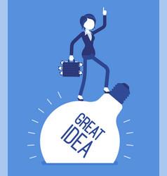 businesswoman great idea vector image