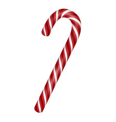 candy xmas swirl stick icon realistic style vector image
