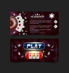casino background style ace vip flyer invitation vector image