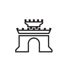 castle icon design template isolated vector image