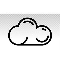 Cloud computing drive storage or cumulus vector