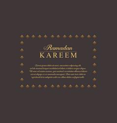 Collection stock of ramadan kareem greeting card vector