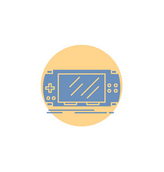 console device game gaming psp glyph icon vector image