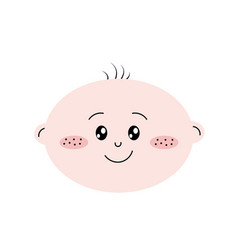 Cute baby boy face with expression vector