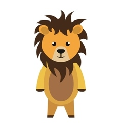 Cute little lion animal character vector