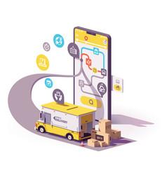 delivery service app vector image