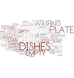 Dish word cloud concept vector