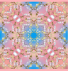 Elegance floral baroque style seamless pattern vector