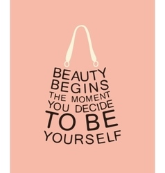 Fashion bag made from quote vector