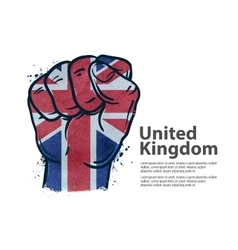 Fist the flag of england britain uk vector