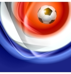 Football background with france flag colors vector