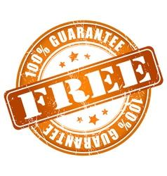 Free 100 guarantee stamp vector