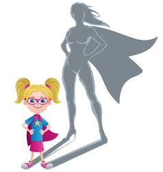 Girl Superheroine Concept vector image