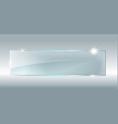 glass plate mockup vector image