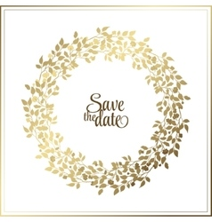 Gold leaf Rope frame on a black background with a vector image
